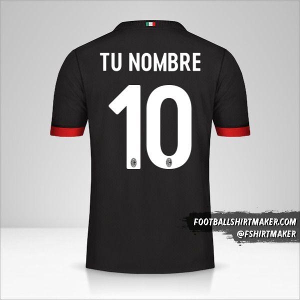 Camiseta AC Milan 2017/18 III número 10 tu nombre