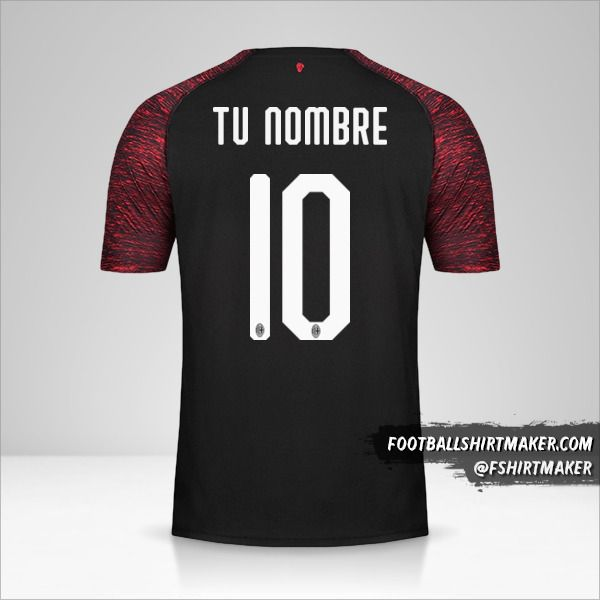 Camiseta AC Milan 2018/19 III número 10 tu nombre