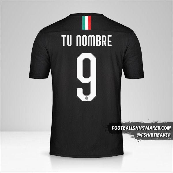Camiseta AC Milan 2019/20 III número 9 tu nombre