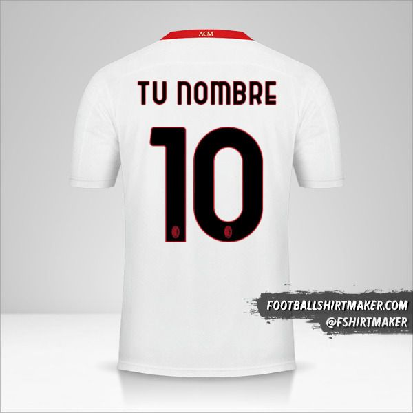 Camiseta AC Milan 2020/21 II número 10 tu nombre