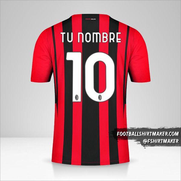 Camiseta AC Milan 2021/2022 número 10 tu nombre