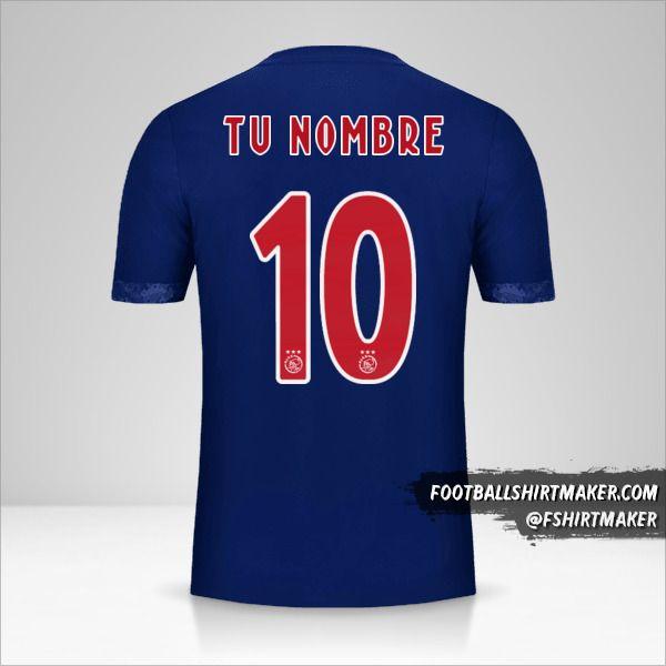 Camiseta AFC Ajax 2017/18 II número 10 tu nombre
