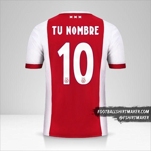 Camiseta AFC Ajax 2017/18 número 10 tu nombre