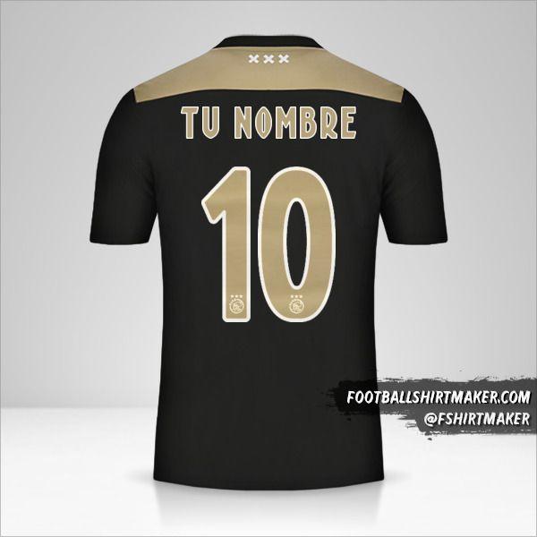 Camiseta AFC Ajax 2018/19 II número 10 tu nombre