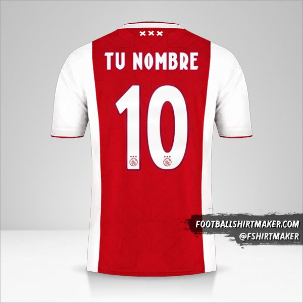 Camiseta AFC Ajax 2018/19 número 10 tu nombre
