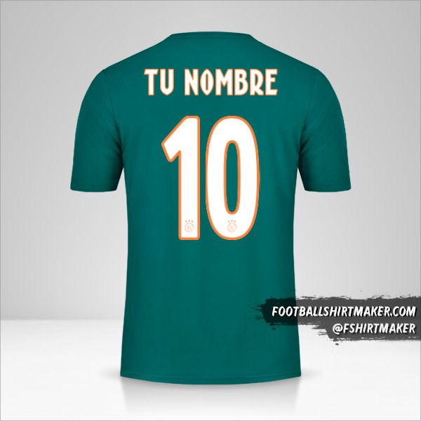 Camiseta AFC Ajax 2019/20 II número 10 tu nombre