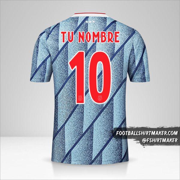 Camiseta AFC Ajax 2020/21 II número 10 tu nombre