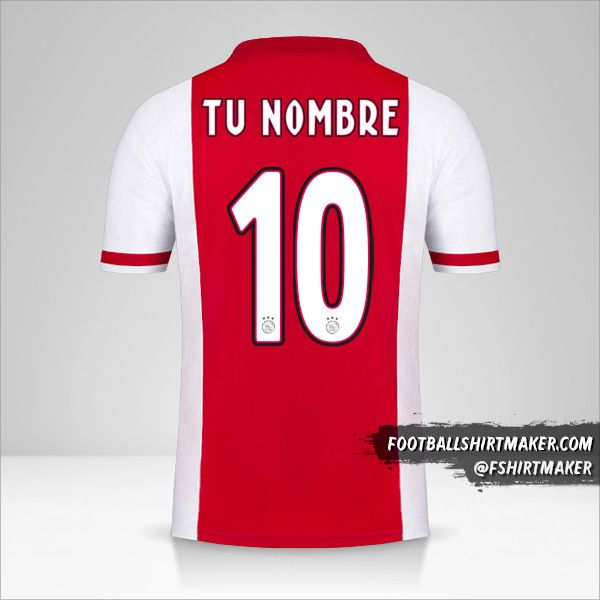 Camiseta AFC Ajax 2020/21 número 10 tu nombre