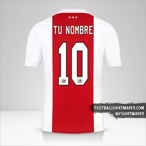 Camiseta AFC Ajax 2021/2022 número 10 tu nombre