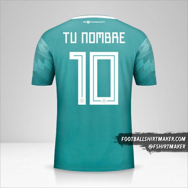 Camiseta Alemania 2018 II número 10 tu nombre