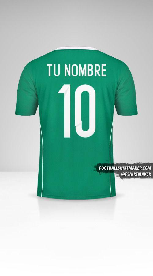 Camiseta Argelia 2015 II número 10 tu nombre