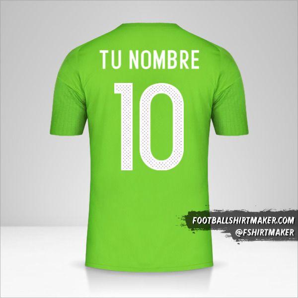 Camiseta Argelia 2016/17 II número 10 tu nombre