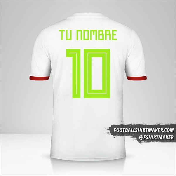Camiseta Argelia 2018 número 10 tu nombre