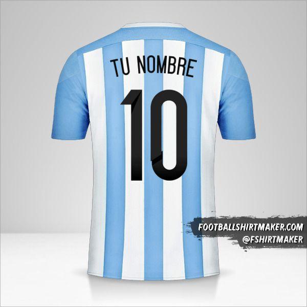 Camiseta Argentina 2015 número 10 tu nombre