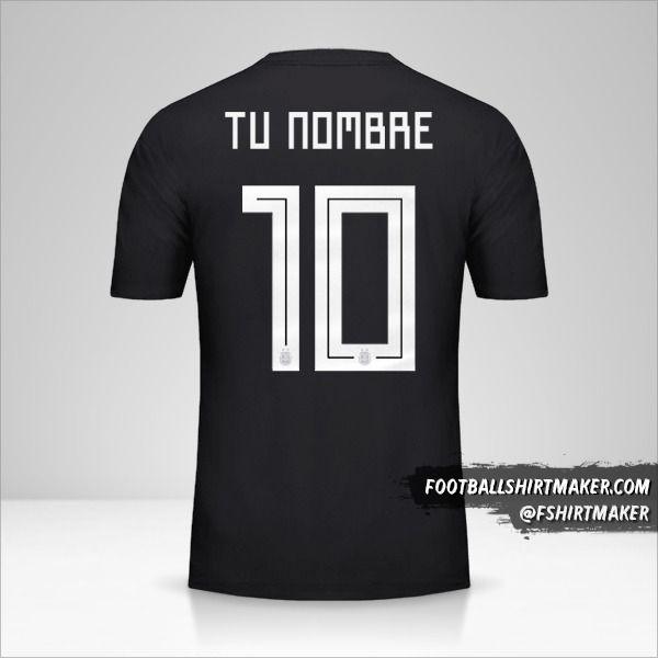 Camiseta Argentina 2018 II número 10 tu nombre