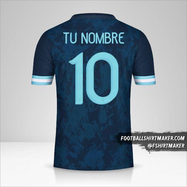 Camiseta Argentina 2020/21 II número 10 tu nombre