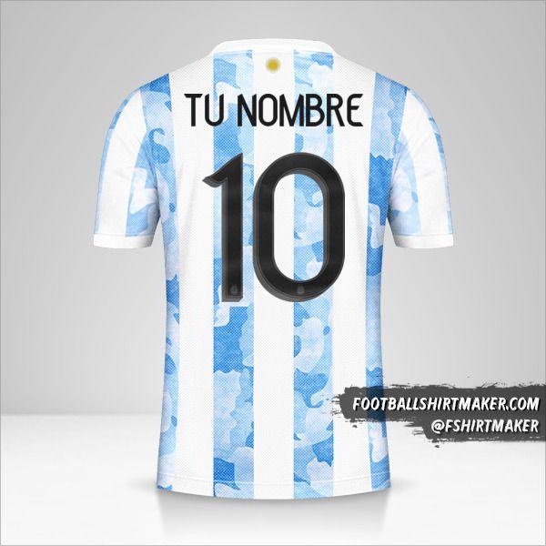 Camiseta Argentina 2021 número 10 tu nombre