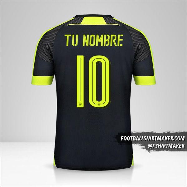 Camiseta Arsenal 2016/17 Cup III número 10 tu nombre