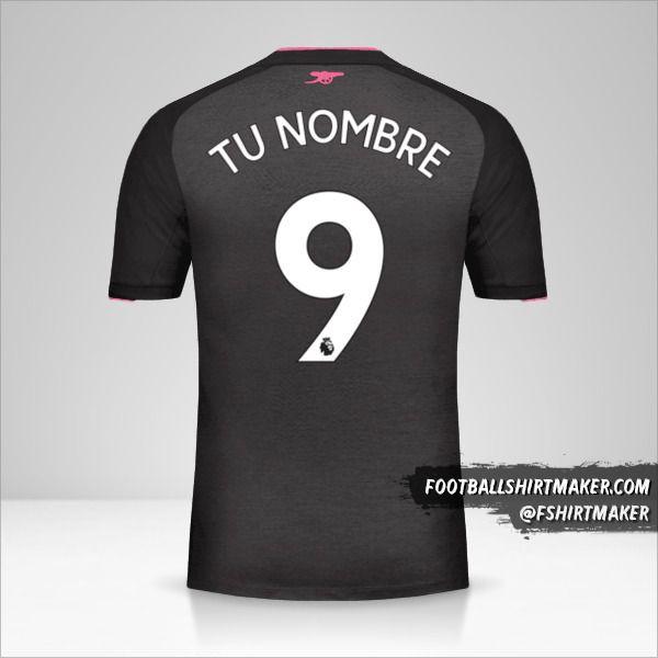 Camiseta Arsenal 2017/18 III número 9 tu nombre