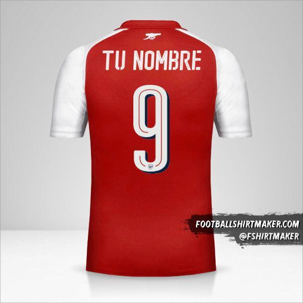Camiseta Arsenal 2017/18 Cup número 9 tu nombre