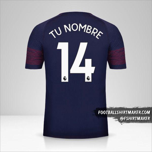 Camiseta Arsenal 2018/19 II número 14 tu nombre
