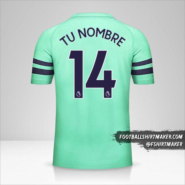 Camiseta Arsenal 2018/19 III número 14 tu nombre