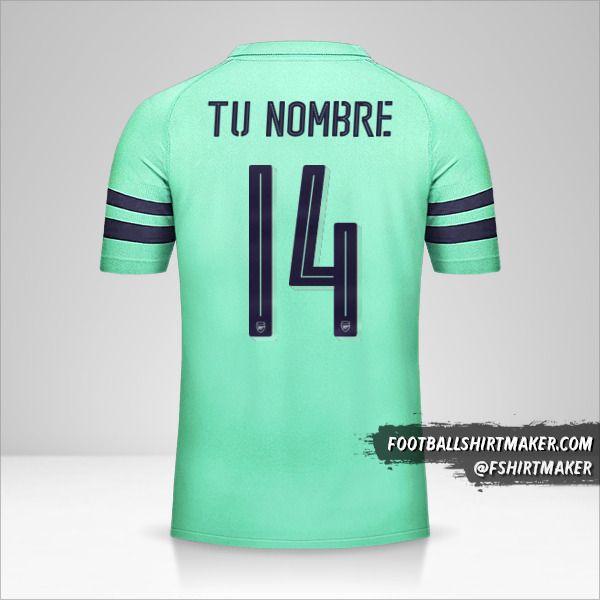 Camiseta Arsenal 2018/19 Cup III número 14 tu nombre