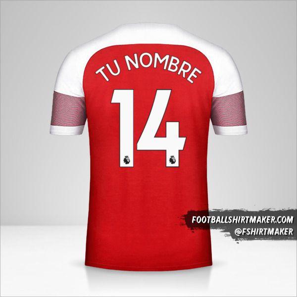 Camiseta Arsenal 2018/19 número 14 tu nombre