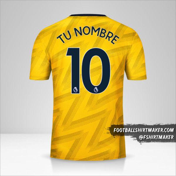 Camiseta Arsenal 2019/20 II número 10 tu nombre