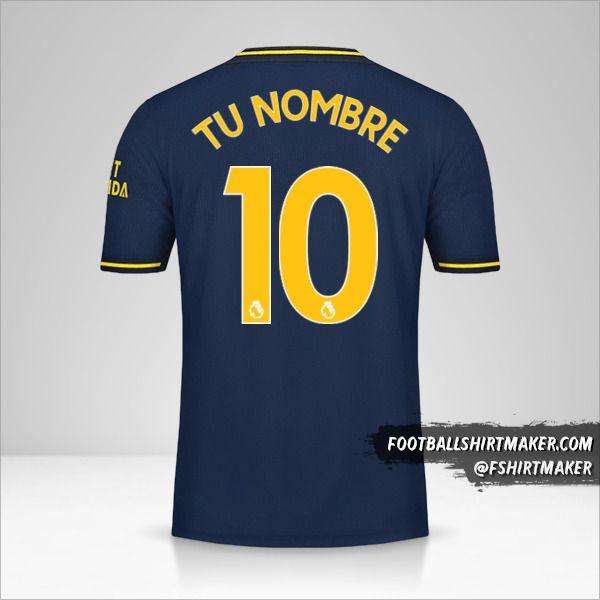 Camiseta Arsenal 2019/20 III número 10 tu nombre