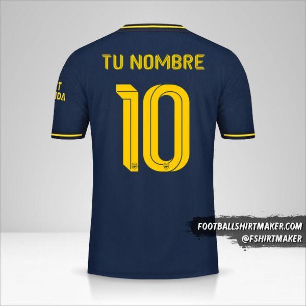 Camiseta Arsenal 2019/20 Cup III número 10 tu nombre