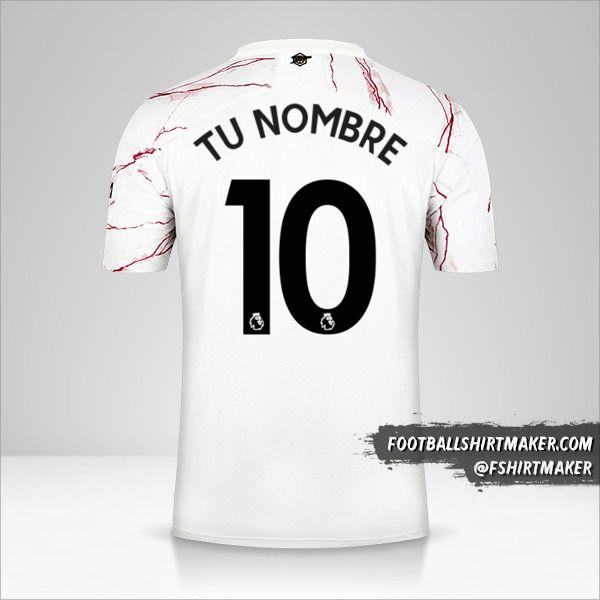 Camiseta Arsenal 2020/21 II número 10 tu nombre
