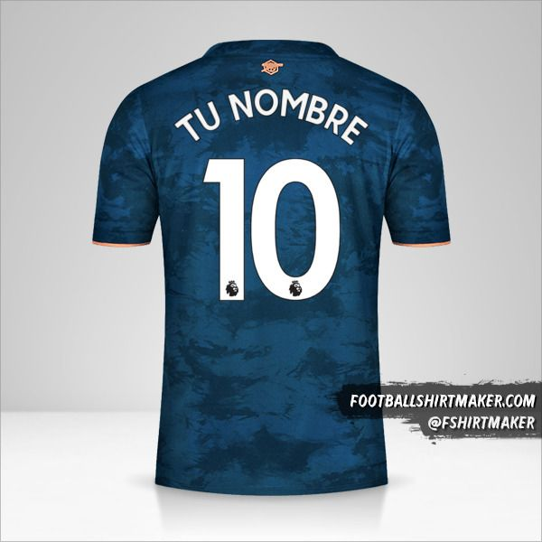 Camiseta Arsenal 2020/21 III número 10 tu nombre