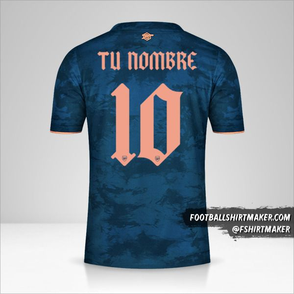Camiseta Arsenal 2020/21 Cup III número 10 tu nombre