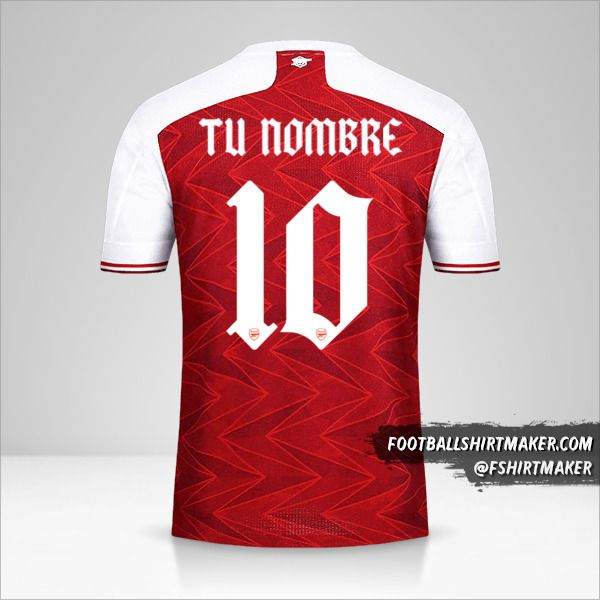 Camiseta Arsenal 2020/21 Cup número 10 tu nombre