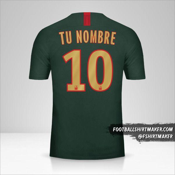 Camiseta As Monaco 2018/19 II número 10 tu nombre