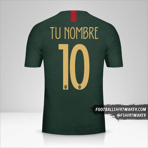 Camiseta As Monaco 2018/19 Cup II número 10 tu nombre