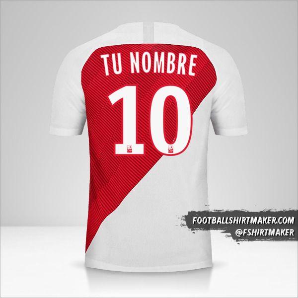 Camiseta As Monaco 2018/19 número 10 tu nombre