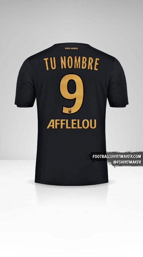 Camiseta As Monaco 2019/20 II número 9 tu nombre