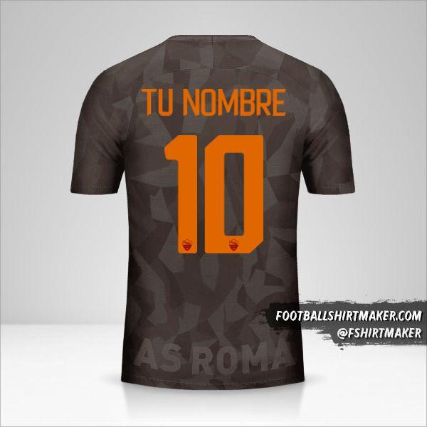 Camiseta AS Roma 2017/18 III número 10 tu nombre