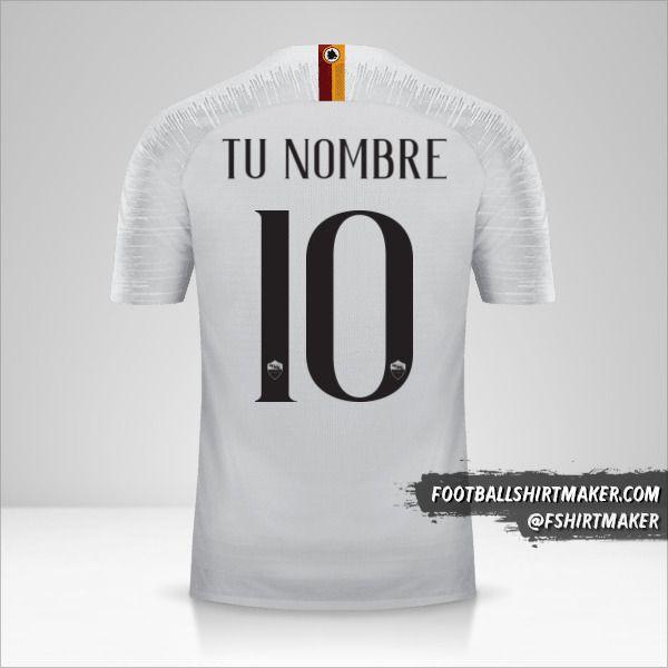 Camiseta AS Roma 2018/19 II número 10 tu nombre