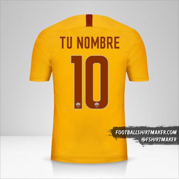 Camiseta AS Roma 2018/19 III número 10 tu nombre
