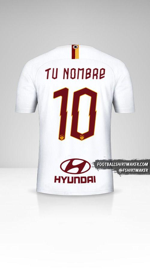 Camiseta AS Roma 2019/20 II número 10 tu nombre