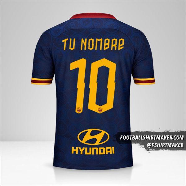 Camiseta AS Roma 2019/20 III número 10 tu nombre