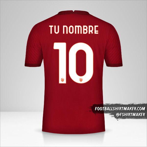 Camiseta AS Roma 2020/21 Cup número 10 tu nombre