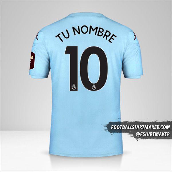Camiseta Aston Villa FC 2019/20 II número 10 tu nombre