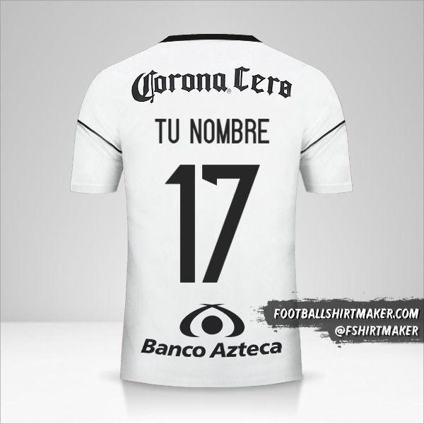 Camiseta Atlas 2017/18 II número 17 tu nombre