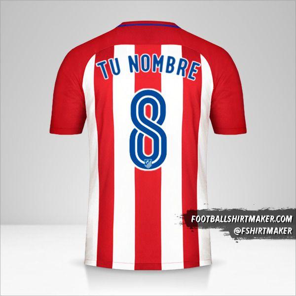 Camiseta Atletico Madrid 2016/17 número 8 tu nombre