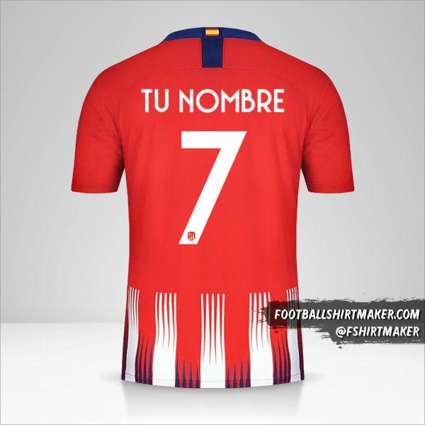Camiseta Atletico Madrid 2018/19 Cup número 7 tu nombre