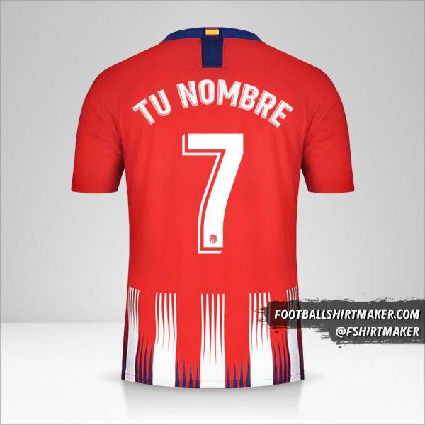 Camiseta Atletico Madrid 2018/19 número 7 tu nombre
